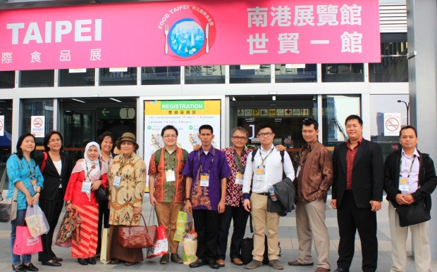 Rombongan Indonesia di Food Taipei 2013