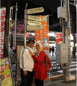 Di depan Stasiun Harajuku